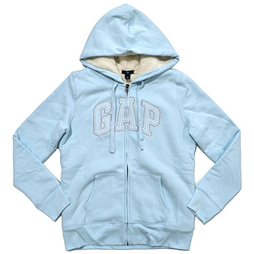 gap-womens-faux-fur-lined-full-zip-hoodie-sweatshirt-medium-blue