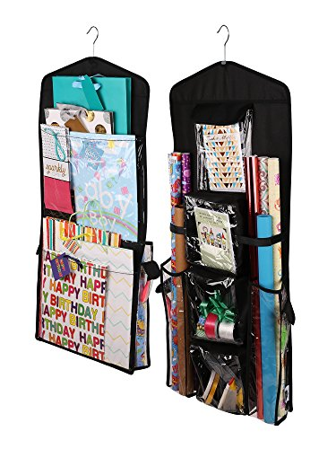 (Regal Bazaar Double-Sided Hanging Gift Bag and Gift Wrap Organizer)