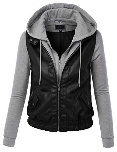 CTC-Womens-Faux-Leather-Zip-Up-Moto-Jacket-with-Hoodie