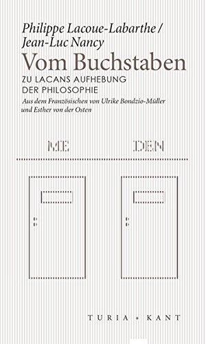 Vom Buchstaben: Zu Lacans Aufhebung der Philosophie (Neue Subjektile) Taschenbuch – 1. Juni 2018 Jean-Luc Nancy Philippe Lacoue-Labarthe Ulrike Bondzio-Müller Esther Von der Osten