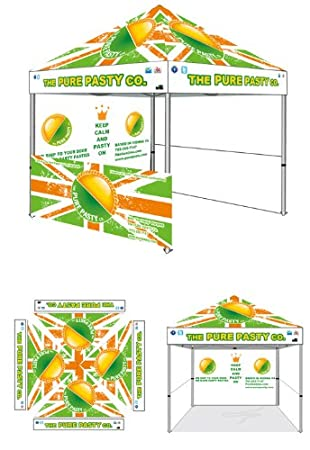 10 X 10 Canopy Custom Graphics Printed Ez Pop up Instant Canopy Party Tent Portable Booth  sc 1 st  Amazon.com & Amazon.com : 10 X 10 Canopy Custom Graphics Printed Ez Pop up ...