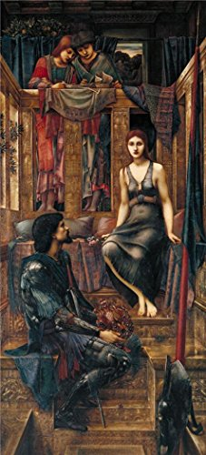 'Sir Edward Coley Burne-Jones - King Cophetua and the Beggar Maid,1884' oil painting, 16x35 inch / 41x90 cm ,printed on Perfect effect Canvas ,this Imitations Art DecorativePrints on Canvas is perfectly suitalbe for Living Room artwork and Home artwork and Gifts - Micro Plane Spiral Cutter