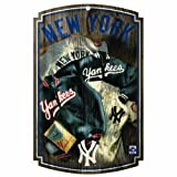 MLB New York Yankees 11-By-17-Inch Retro Jackets and Jersey Wood Sign