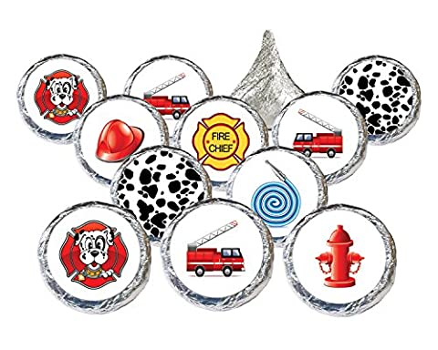 Firefighter Party Favors Stickers (Set of 324) (Fire Chief Birthday)