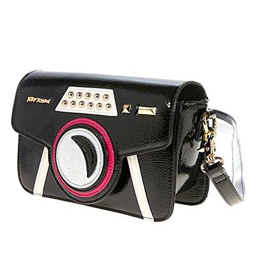 Betsey Johnson Women's Get My Good Side Crossbody Bag Black One -