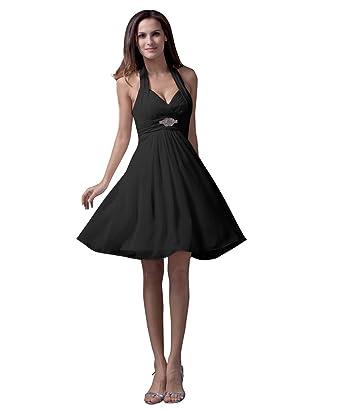 9699ede4881 Preferhouse Women s Maxi Formal Evening Dresses Knee Length Halter US2 Black