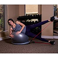 So Alpha Premium Exercise Ball with 15LB Resistance Bands, Stability Base, & Pump, 65 CM Fitness Ball, Supports up to 600LBS, Stability Ball with Gym Quality Resistance Bands, Great for Home & Office by SoAlpha