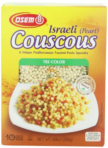 Osem Israel Couscous, Tri-color, 8.8 Ounce (Pack of 12) by Osem