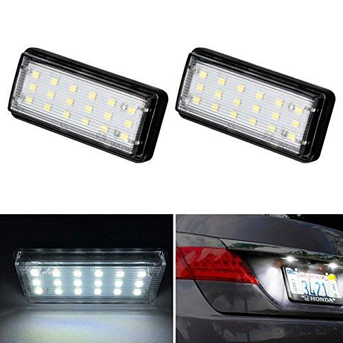 (Polarlander Car Styling No Error LED White Rear Number Plate Light Auto Lamp for Toyota Land Cruiser 120 Prado Land Cruiser 200 Lexus GX470)