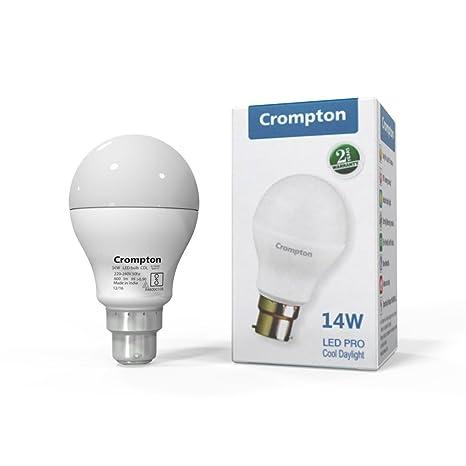Crompton Led14dfcdl Pro Bo Base B22 14 Watt Led Bulb Cool Day Light