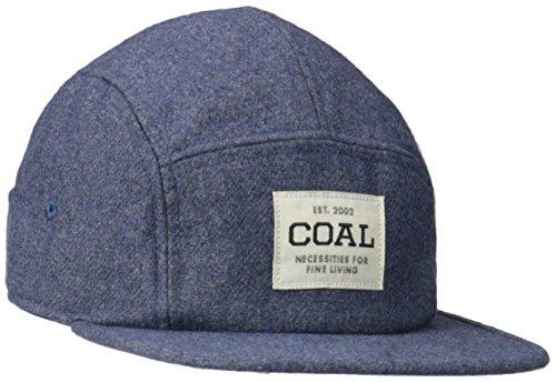 Coal Men's The Richmond Flat brimmed Hat 5 Panel Adjustable Cap, Heather Navy Flannel, One - Shop Richmond Hat