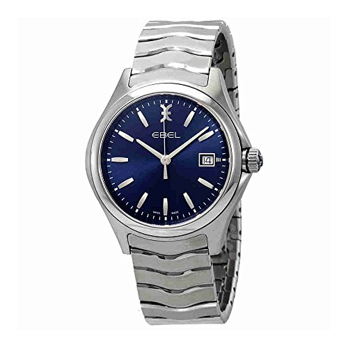 Ebel Wave Watch - Ebel Wave Blue Dial Stainless Steel Mens Watch