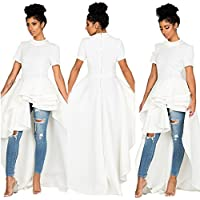 WYTong Womens Dress, Ladies Short Sleeve Asymmetrical Ruffles Dress Back Zipper for Evening Cocktail Party