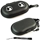 Black Portable Hard Case Cover Shell with Integrated Speakers ( Ideal for iPhones, iPods, Zunes, MP3 Players, Cell Phones, and players with a 3.5 mm audio input )