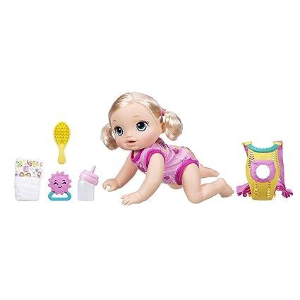 Amazon.com: Baby Alive Baby Go Bye Bye muñeca – Blonde ...