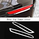DHmart Car Styling Front Fog Lamps Cover Grille slats Auto Fog Light Decoration Sticker Trim Accessories