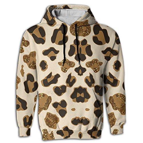 LU-come Art Leopard Mens Novelty Hoodies Pullover Unisex Sweatshirts - Evans Quilt