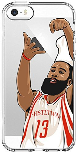 iPhone 5/5s/SE Case, Chrry Cases Ultra Slim [Crystal Clear] [Basketball Player] Soft TPU Case Cover for Apple iPhone 5/5s/SE - Chef Harden