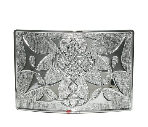 Highland Thistle Kilt Belt Buckle Chrome I Luv LTD