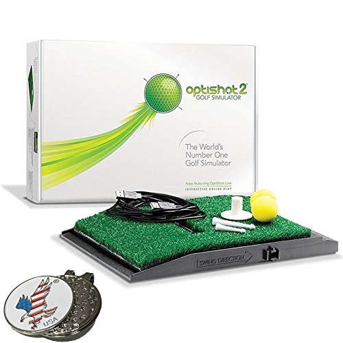 Optishot 2 Golf Simulator (Mac & PC), Comes with 1 American Eagle Golf Ball Marker