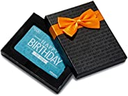 Amazon.ca Gift Card in a Black Gift Box - Happy Birthday Icons