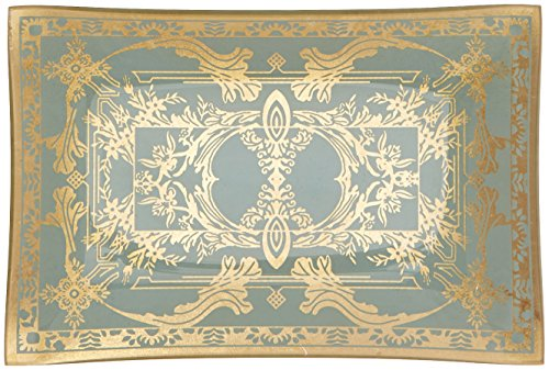 Abbott Collection 27-PALAZZO/126 Sm Rectangle Plate with Filigree