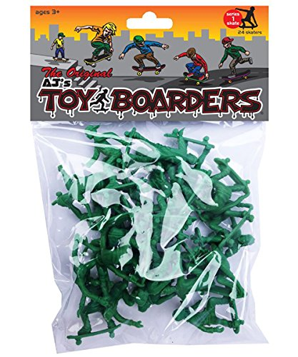 Mindtwister USA AJ's Toy Boarders Skate Series 1 Action Figures, Original Green