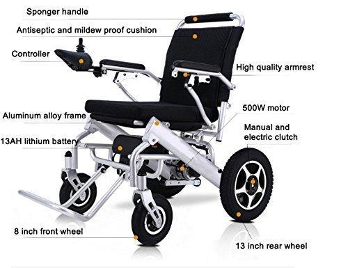 Amazon.com: 2019 Updated Electric Wheelchair - Lightweight (50 lbs Including Lithium Battery) Power Chair Silla de Ruedas Electrica para Adultos New ...
