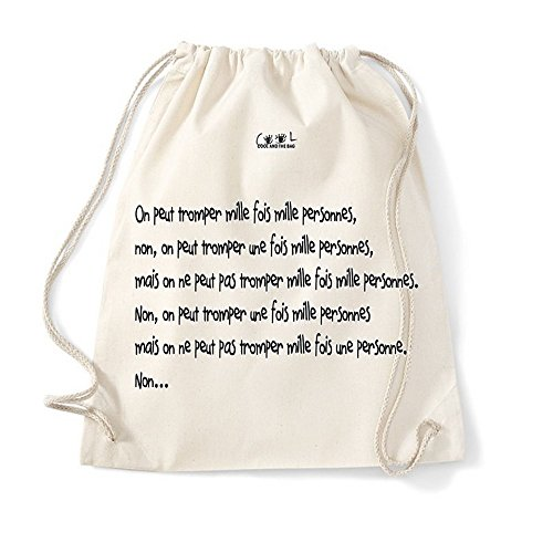 Cool and The Bag CATB-SGLP1 - Bolso mochila para mujer Beige natural 37X46cm