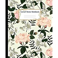 Cornell Notes Notebook: College Ruled Medium Lined Journal: Graceful Jasmine Flowers Cornell Note Paper Workbook for School, University, Note Taking ... and Writers   Perfect Size 7.5 X 9.25 Inches