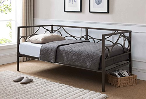 Kings Brand Furniture Pewter Finish Metal Twin Size Daybed Frame (Design Daybed)