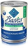Blue Basics Limited Ingredient Diet Adult Grain Free Duck & Potato  Wet Dog Food 12.5-Oz (Pack Of 12)