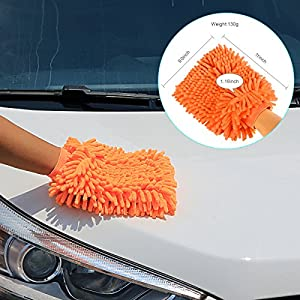 Car Cleaning mitts and kits and wiper squeegee