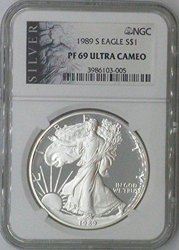 1989 S American Eagle $1 PF69 NGC PF