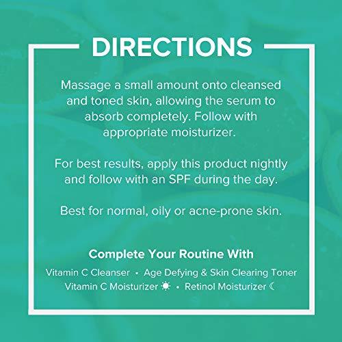 InstaNatural Vitamin C Anti Aging Skin Clearing Serum  Wrinkle Cystic Acne Fine Line Pigmentation