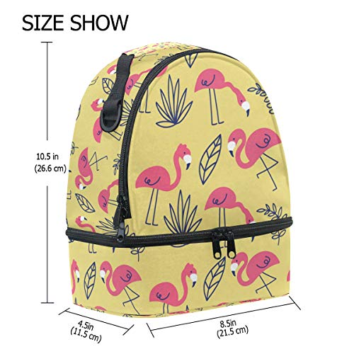 Alinlo Flamingo Tote réglable Boîte l'école isotherme à à bandoulière motifs Sac avec Cooler lunch pour Rose Pincnic rR4wxr