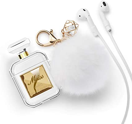 Amazon Com Lastma Cute Airpods Case Perfume Bottle With Keychain