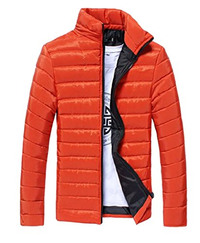 Classic Down Solid Jacket Delicate Vest Closure Orange2 Mens AngelSpace Zipper Coat CwqXBA
