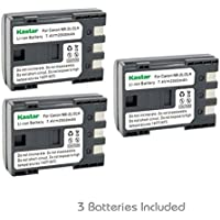 Kastar Battery (3-Pack) for Canon NB-2L NB-2LH NB-2L12 NB-2L14 NB-2L24 and PowerShot G7 G9 S30 S40 S45 S50 S60 S70 S80 DC410 DC420 VIXIA HF R10 HF R100 HF R11 EOS 350D 400D Digital Rebel XT Xti