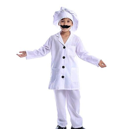 GUAN - Disfraz de Chef para niños - Disfraz de Boy Professional ...