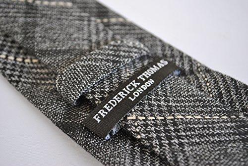 grey and Frederick checked tweed wool skinny black tie Thomas nCCWqOU