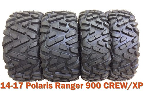 - Set 4 ATV UTV Tires 26x9-12 & 26x11-12 for 14-17 Polaris Ranger 900 CREW/XP