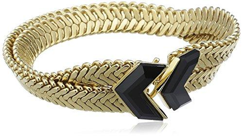 Wouters & Hendrix Bracelet Cuivre Triangle Onyx Noir Femme