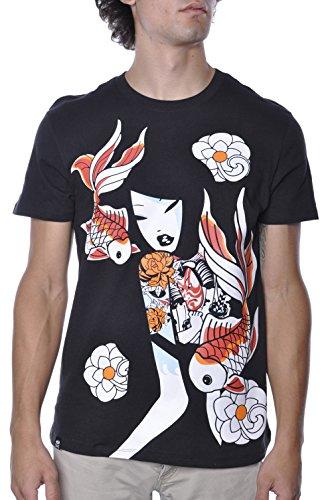 TKDK Japanese Koi Fish Tattoo Geisha Anime Tee Shirt Large
