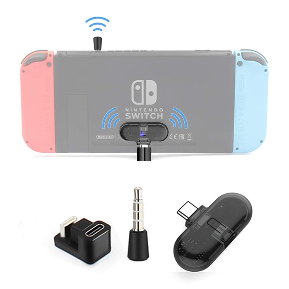 GuliKit ROUTE+ PRO Bluetooth Transmitter Wireless Audio USB-C Adaptor or Receiver With Voice Transmission - Must Have Gaming Accessory For Wireless Headset to Work With Nintendo Switch and PC