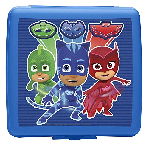 Zak Designs PJ Masks Plastic Sandwich Container, Catboy, Owlette & Gekko