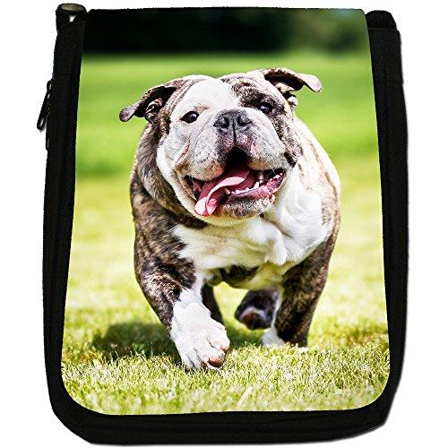 The British In Canvas Pure Medium Size Bag Black English Bred Shoulder Bulldog Sun rvrHPqwZ