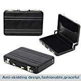 TULMAN High Quality Widely Use Briefcase Style Credit / Debit / Visiting Business Card Holder Black