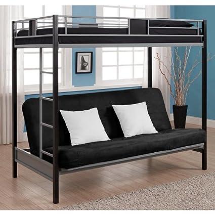 Amazon Com Dorel Home Products Silver Screen Twin Futon Bunk Bed