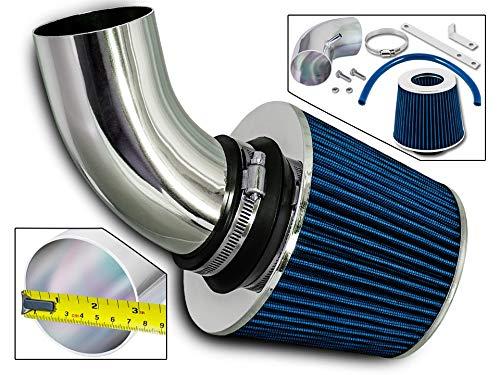 Rtunes Racing Short Ram Air Intake Kit + Filter Combo BLUE Compatible For 03-06 Chrysler PT Cruiser 2.4 L4 Turbo -